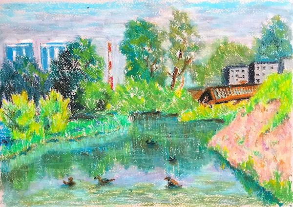 Larissa Lukaneva. Krasnoyarsk. Backwater.