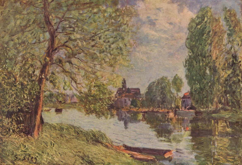 Альфред Сислей. Речной пейзаж в окрестностях Морэ-сюр-Луан