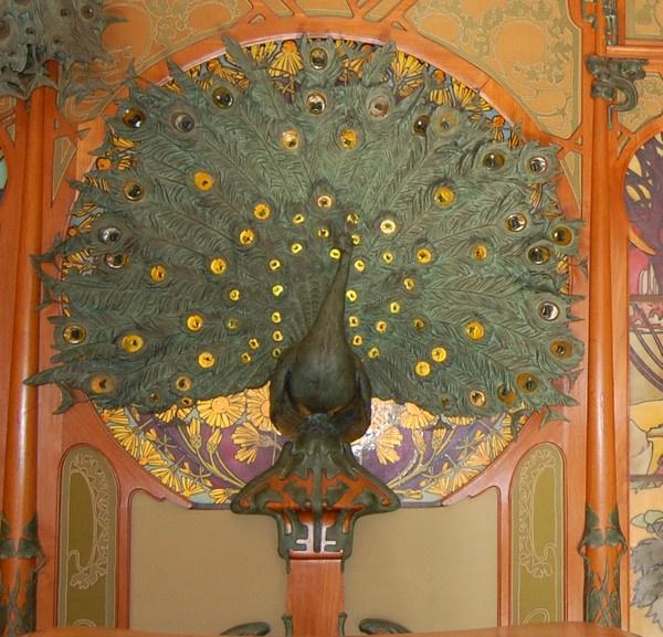 Alfons Mucha. Peacock