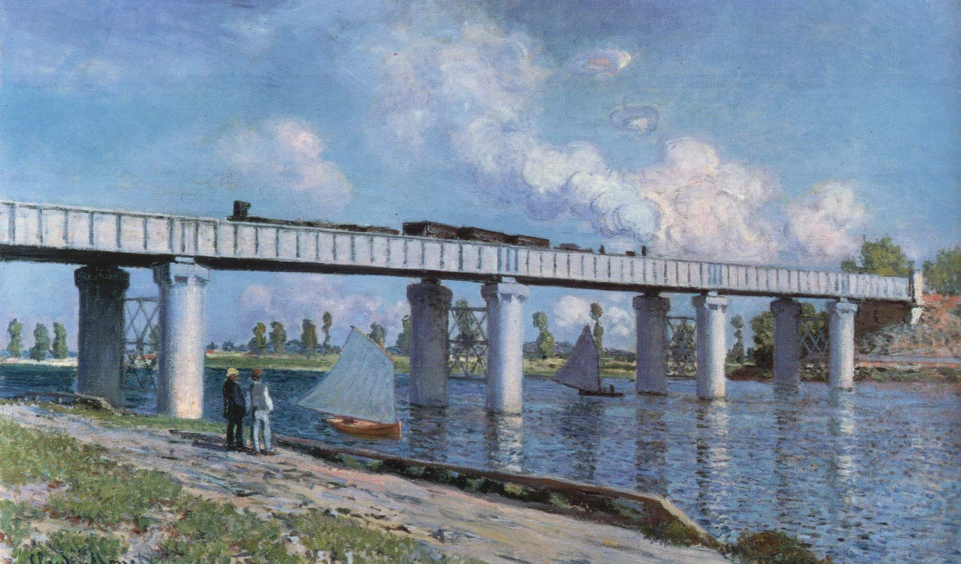Claude Monet. The railway bridge at Argenteuil