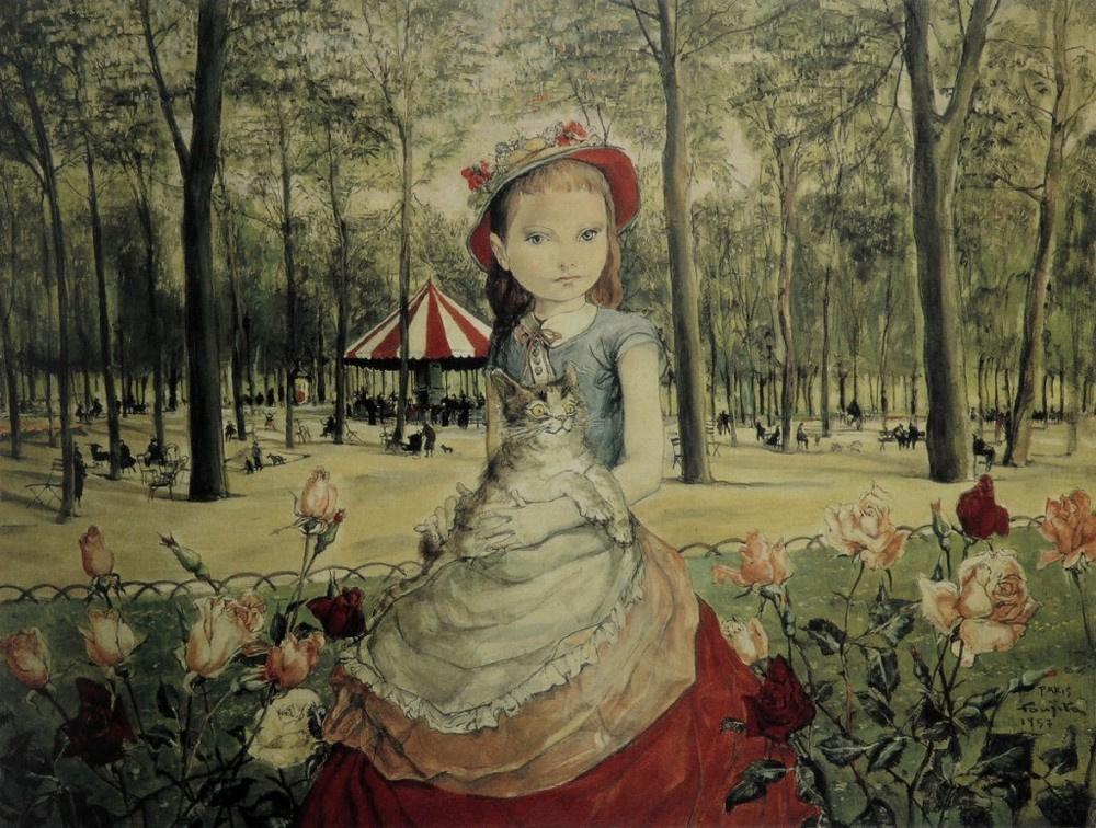 Tsuguharu Foujita (Léonard Fujita). The girl in the Park