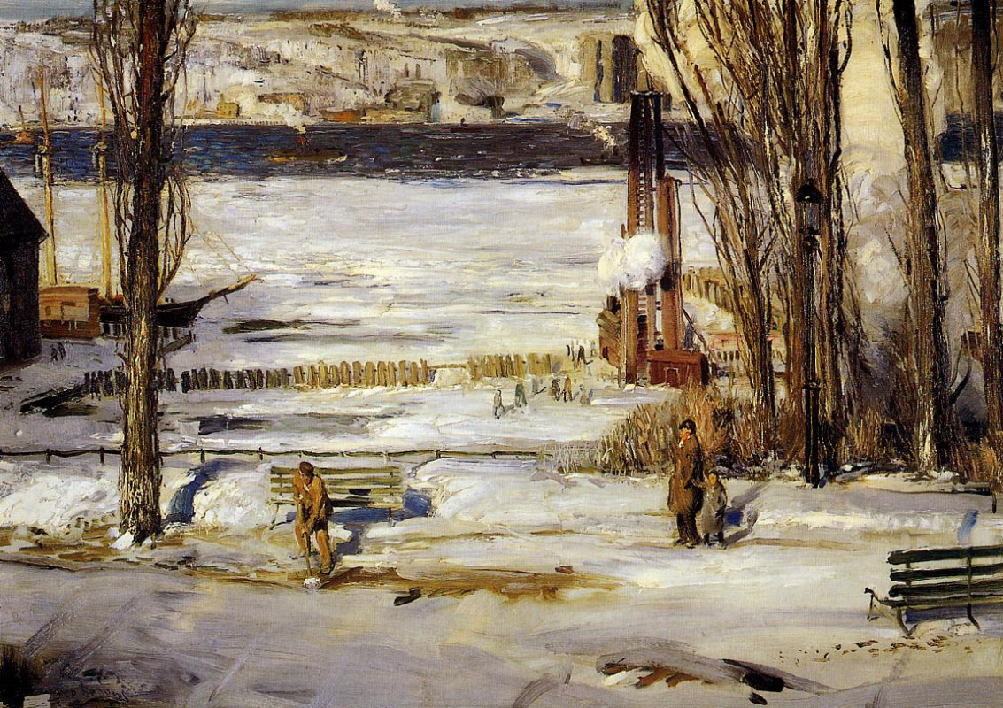 George Wesley Bellows. Morning snow