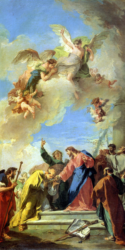 Giovanni Battista Pittoni. Christ, transferring to St. Peter the keys to heaven