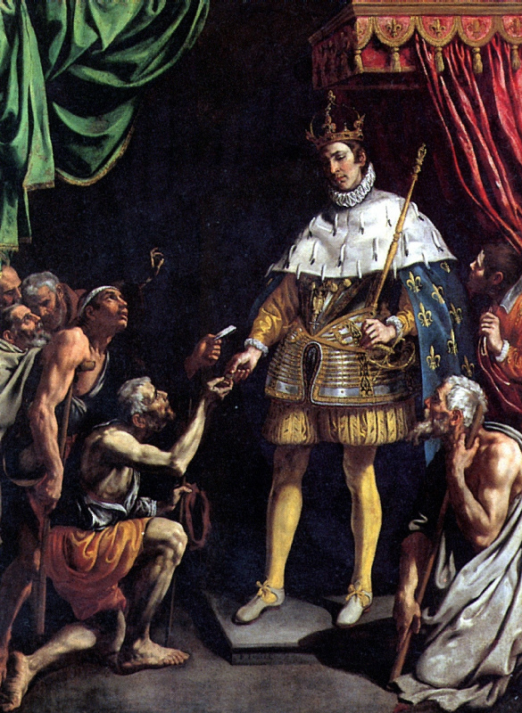 Святой Людовик — король Франции, раздающий милостыню