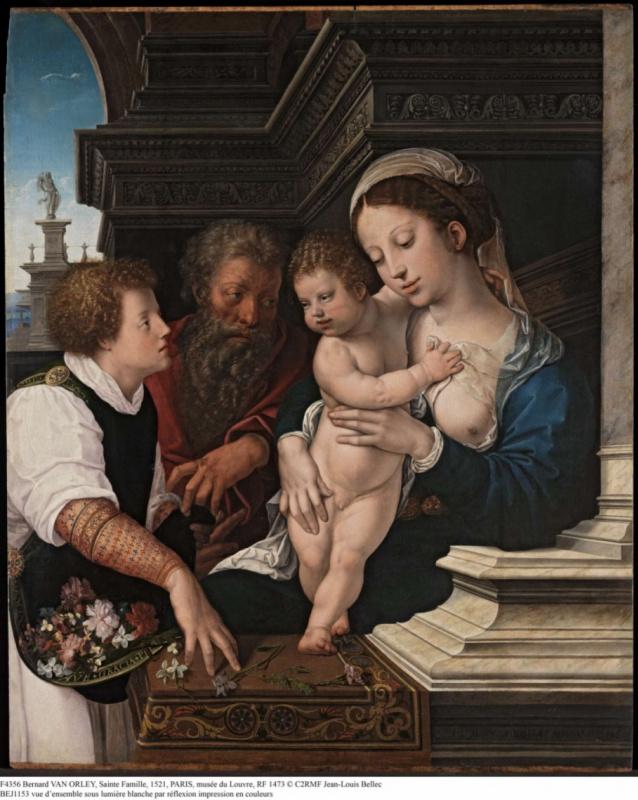Bernart Van Orley. Holy family