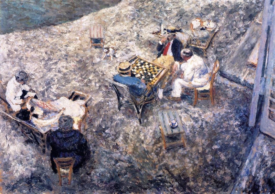 Jean Edouard Vuillard. Checkers game
