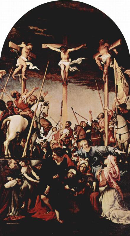 Lorenzo Lotto. The crucifixion