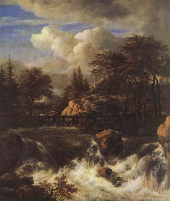 Якоб Исаакс ван Рейсдал. Водопад в скалистом пейзаже