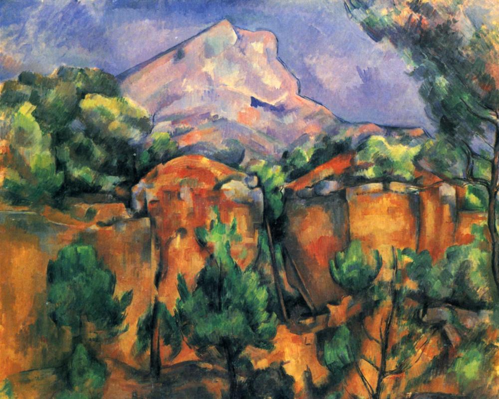 Поль Сезанн. Гора св. Виктории (Сент-Виктуар) со стороны каменоломни Бибемюс