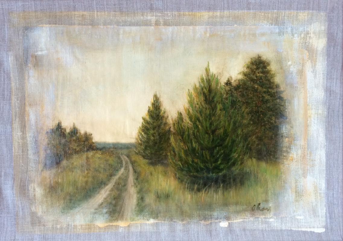 Oksana Viktorovna Sokolova. Sosnovka. Canvas, oil. 40x50, 2019