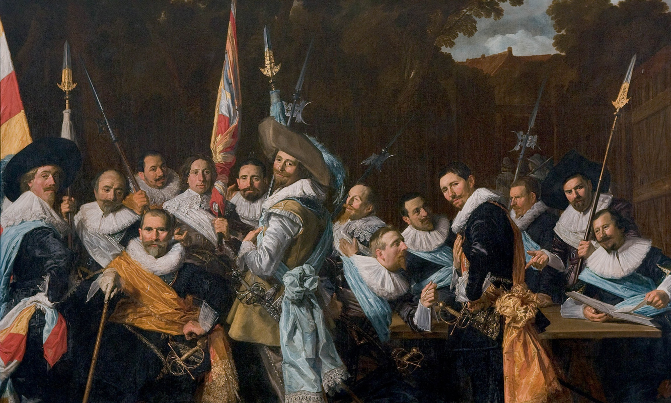 Frans Hals. Group portrait of officers and sergeants in a rifle company of St. Adrian