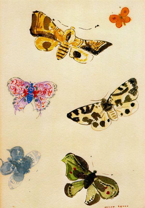 Одилон Редон. Бабочки