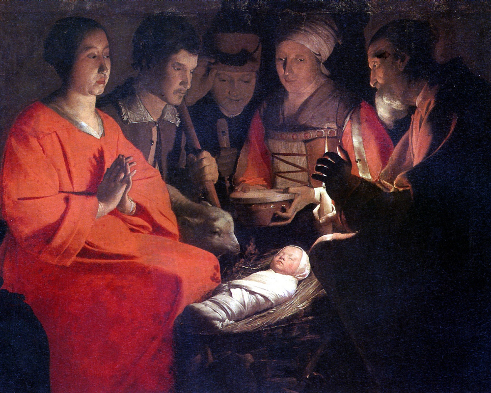 Georges de La Tour. The adoration of the Magi
