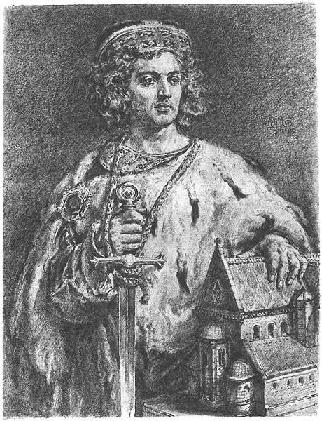 "Jan Matejko. Boleslav IV Curly. Series ""Portraits of Kings and Princes of Poland"""
