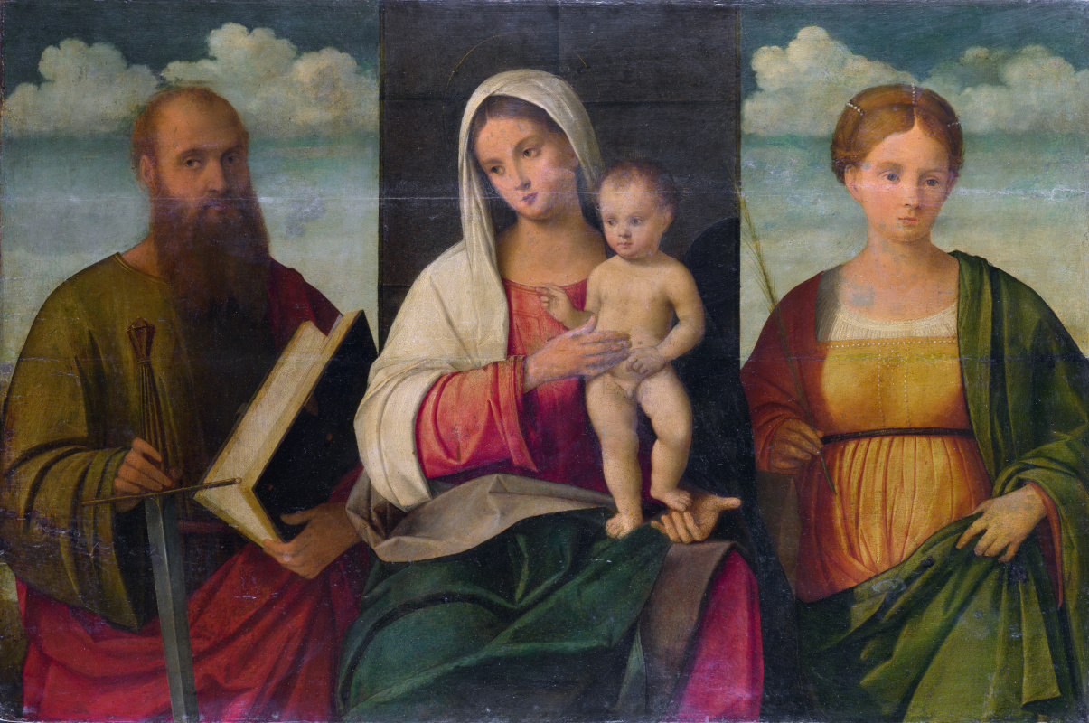 Bissolo Francesco. The virgin and child with saints