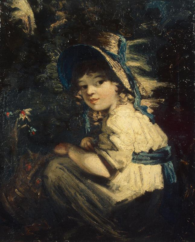 Дэниел Гарднер. Девочка в соломенной шляпке