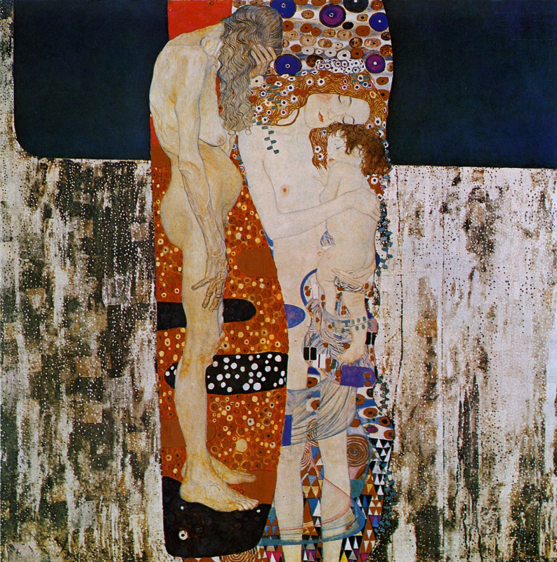 Gustav Klimt. The three ages of women