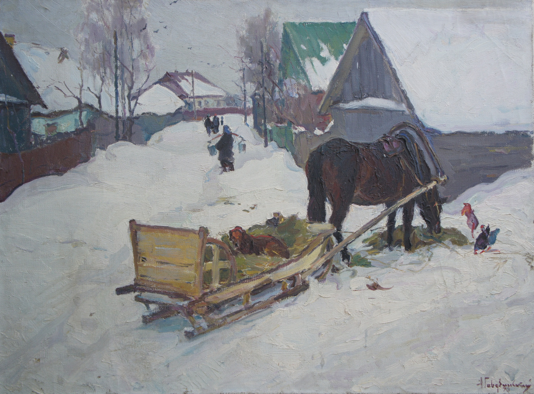 Albin Stanislavovich Gavdzinsky. Winter in Sedniv.