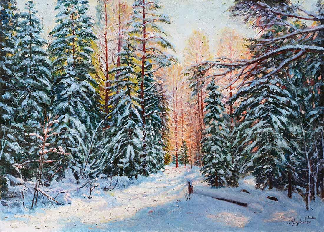 Igor Razzhivin. Winter sun
