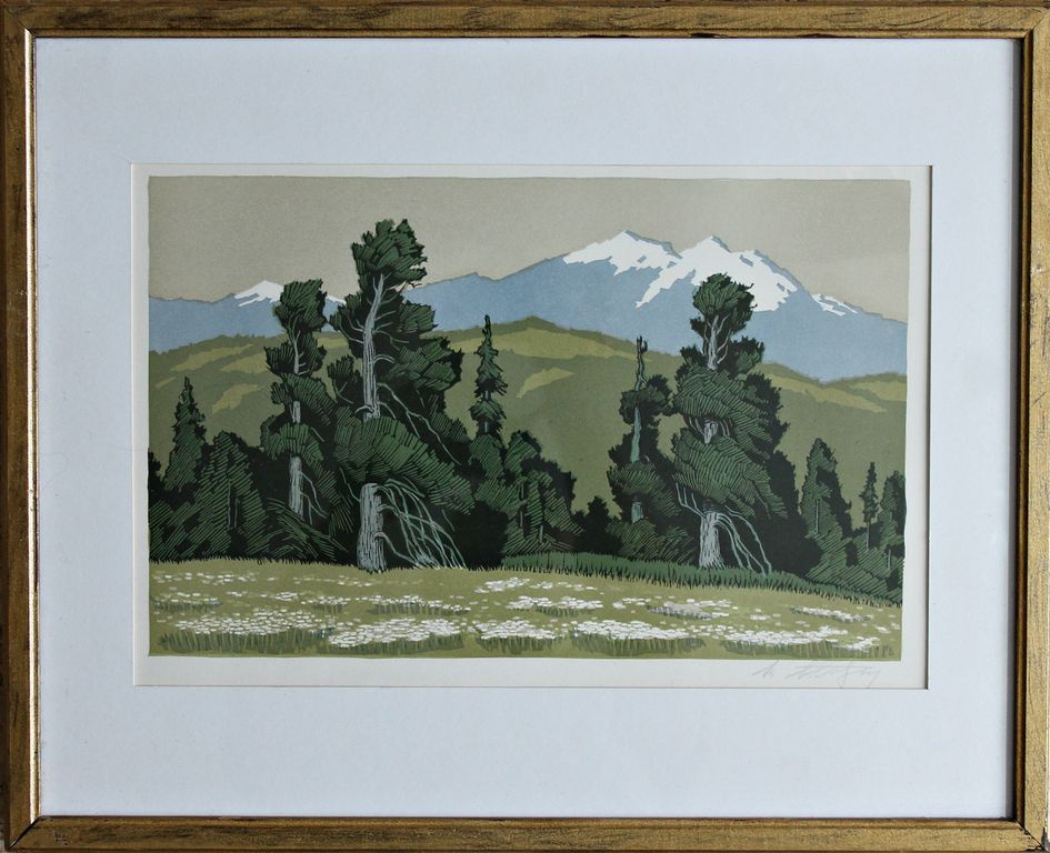 Vladimir Adolfovich Bendinger. In Altai. Forest and mountains