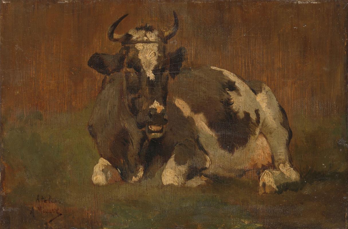 Anton Maouve. Lying cow