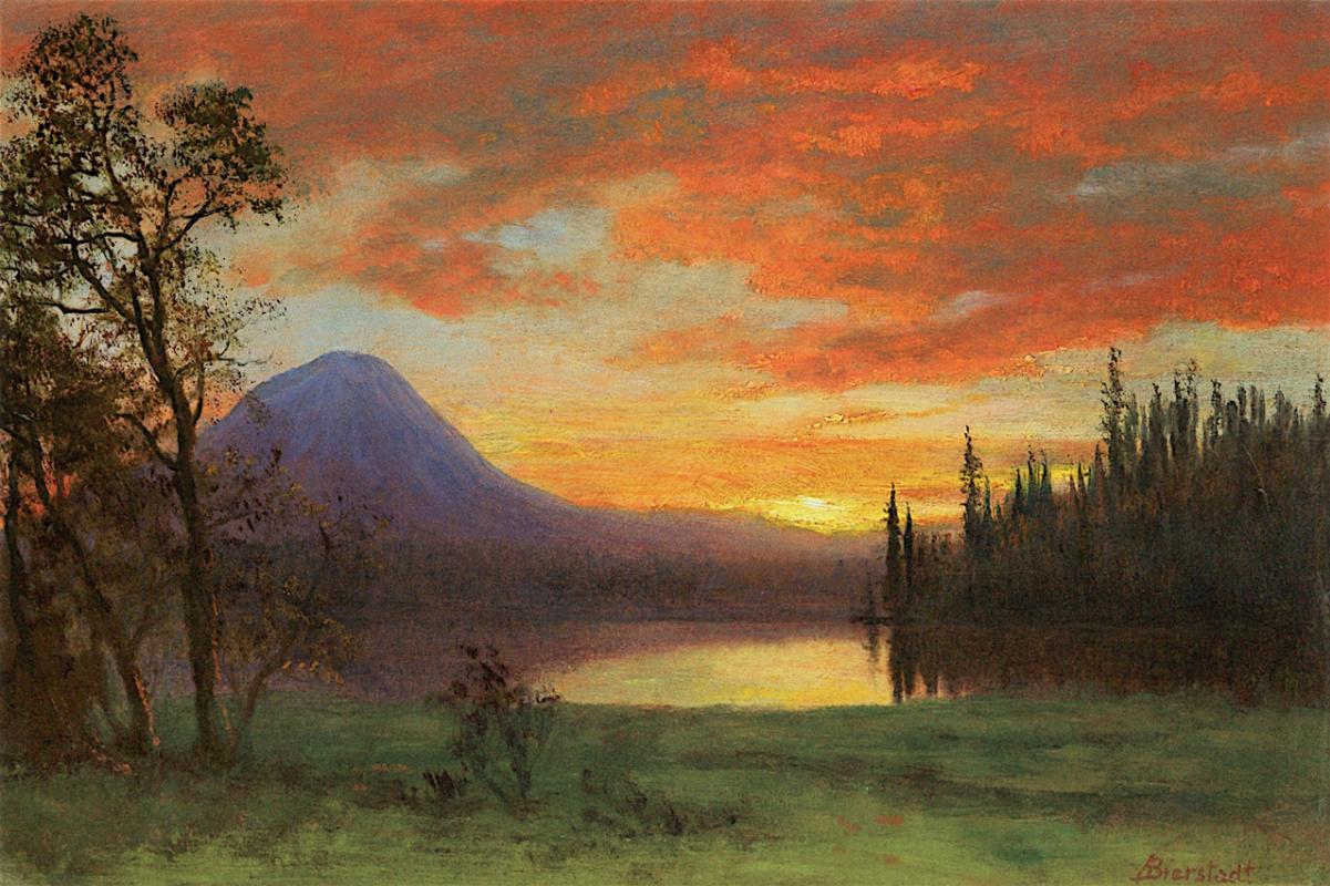 Альберт Бирштадт. Горный пейзаж (Фиолетовая гора)