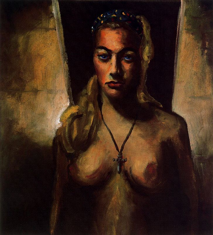 Джон Кугар Мелленкамп. Обнаженная женщина с крестом