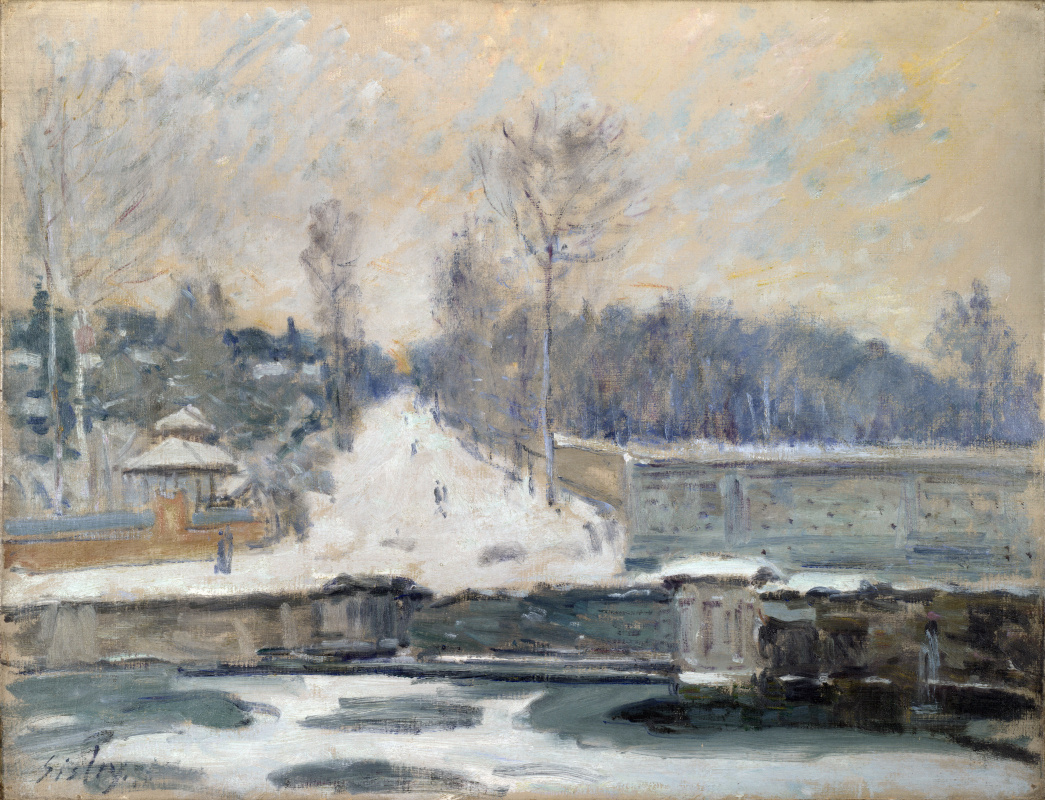 Alfred Sisley. The watering place in Marly-Le-ROI
