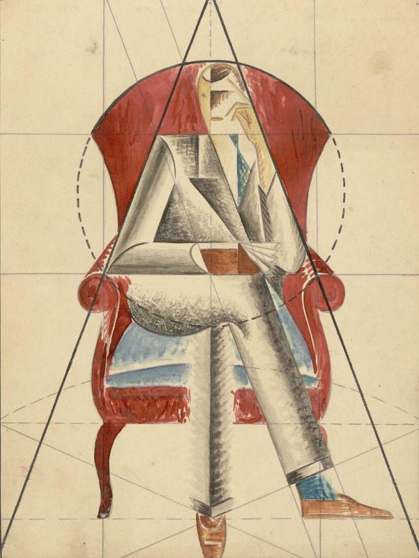 Евгений Васильевич Зотов. Сидящий в кресле
