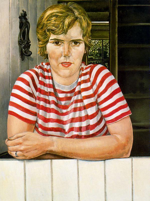 Джон Роддэм Спенсер-Стенхоуп. Женщина в полосатой футболке