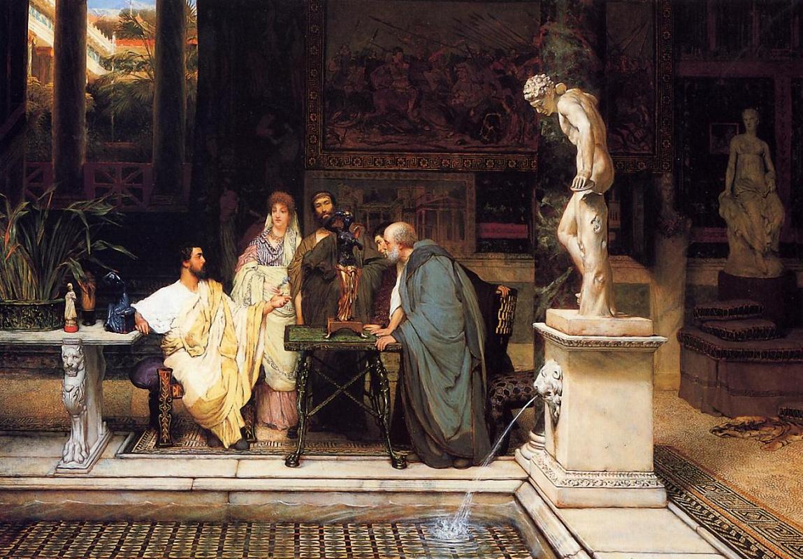 Лоуренс Альма-Тадема. Ценители римского искусства