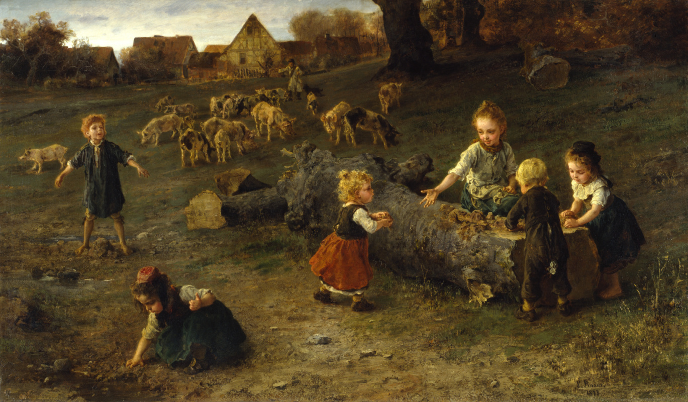 Ludwig Knaus. Easter cakes