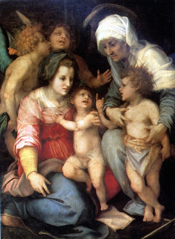 Андреа дель Сарто. Святое семейство с ангелами
