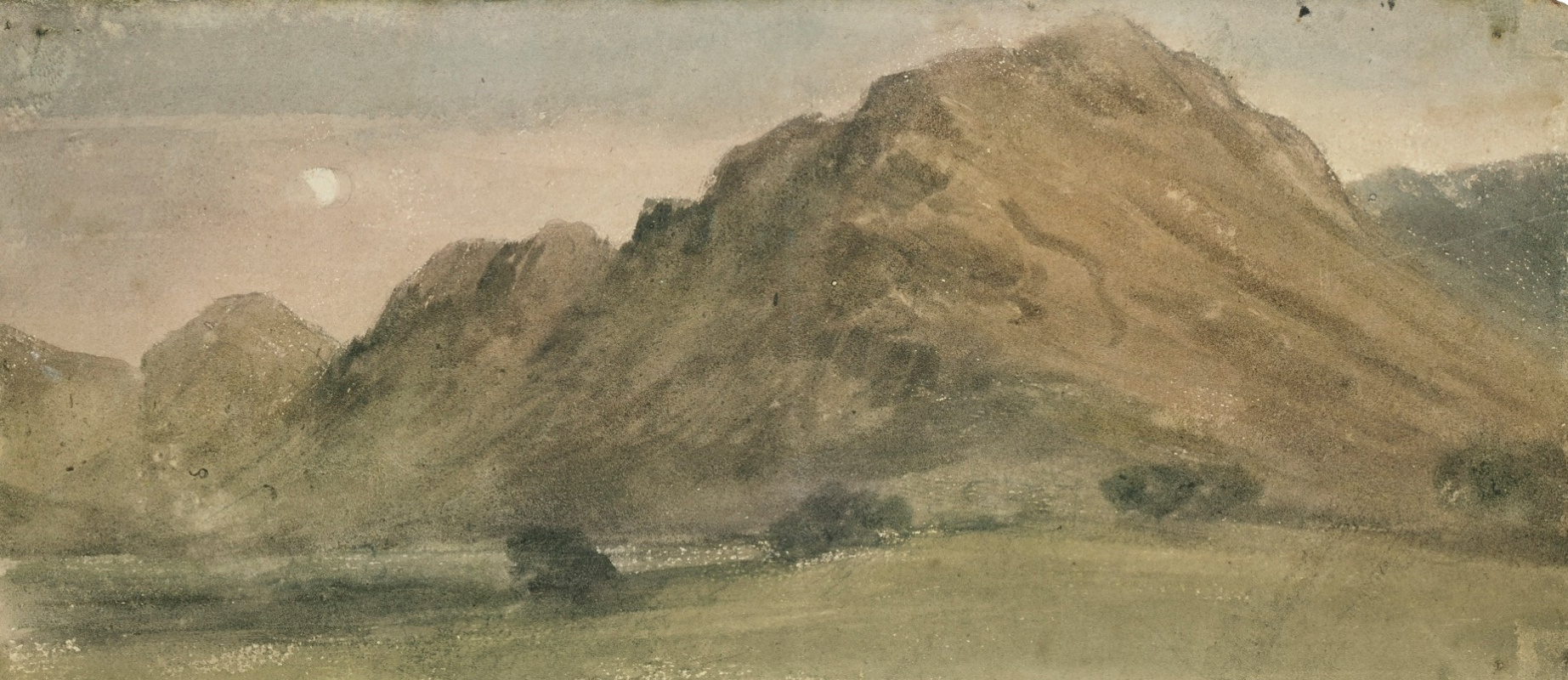 John Constable. Borrowdale in the moonlight