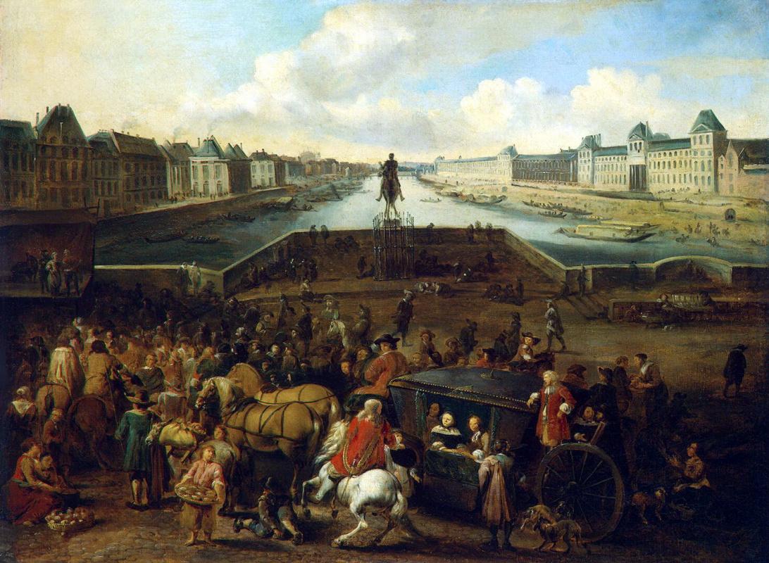 Хендрик Моммерс. Вид Нового моста в Париже