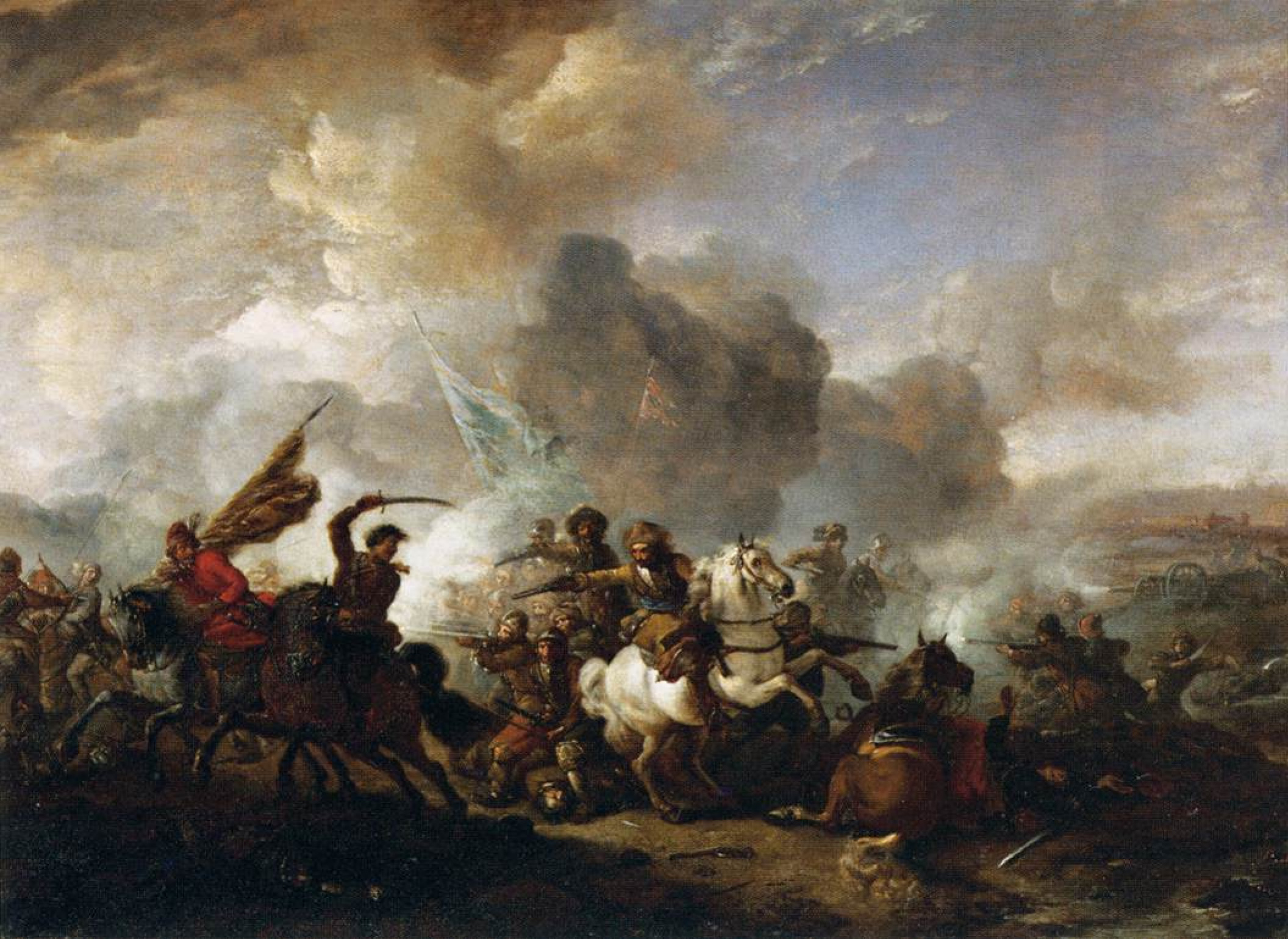 Филипс Вауверман (Воуверман). Схватка между восточной кавалерией и кавалерией Священной Римской империи