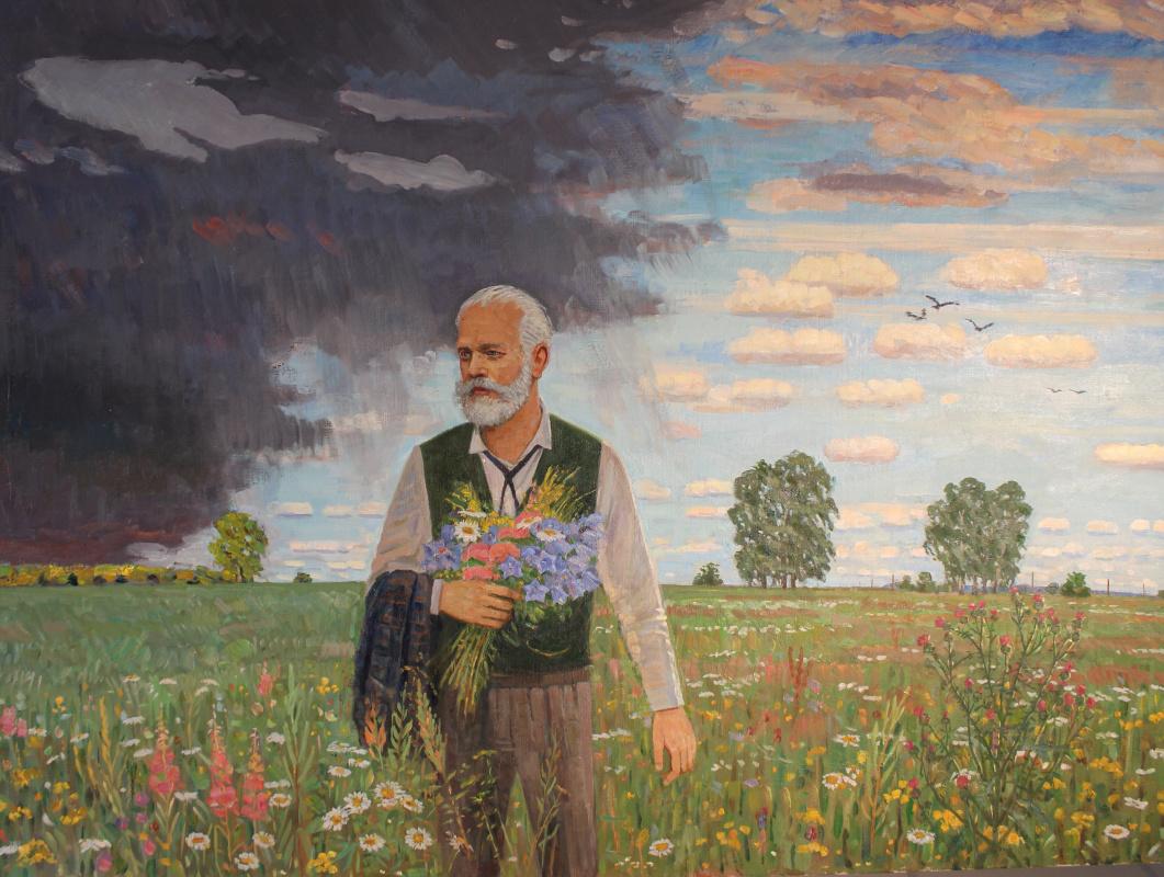 Eugene Alexandrovich Kazantsev. Peter Ilyich Tchaikovsky. In field.