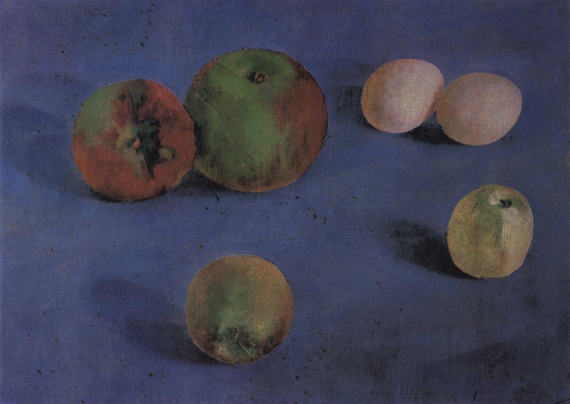 Kuzma Sergeevich Petrov-Vodkin. Still life. Apples and eggs
