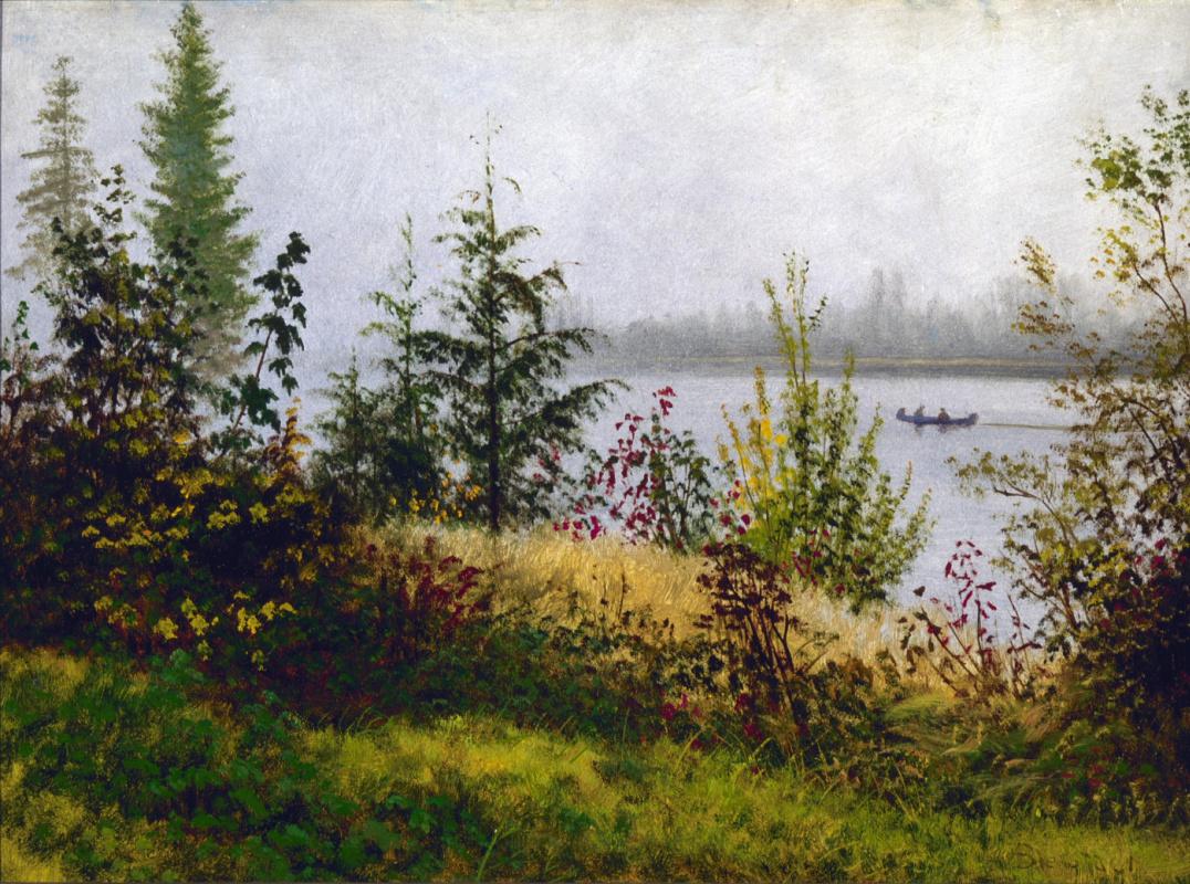 Альберт Бирштадт. Каноэ на Северной реке
