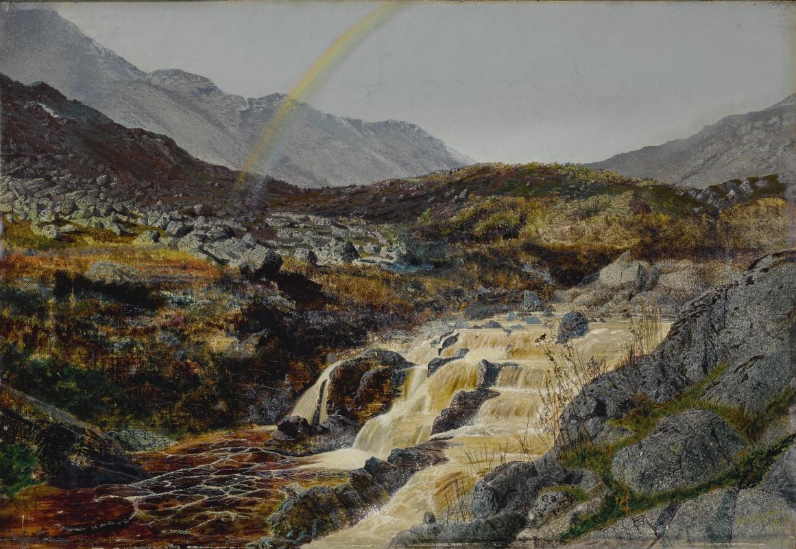 John Atkinson Grimshaw. Rainbow over a mountain stream, Izdeyl