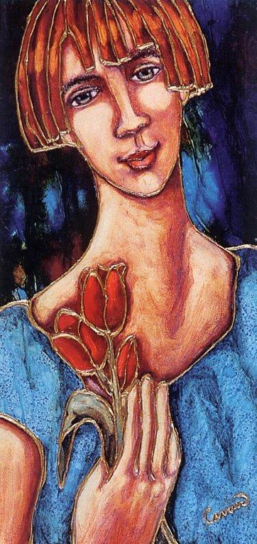Манон Карриер. Красные тюльпаны