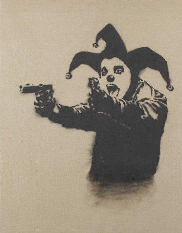 Banksy. Crazy Clown