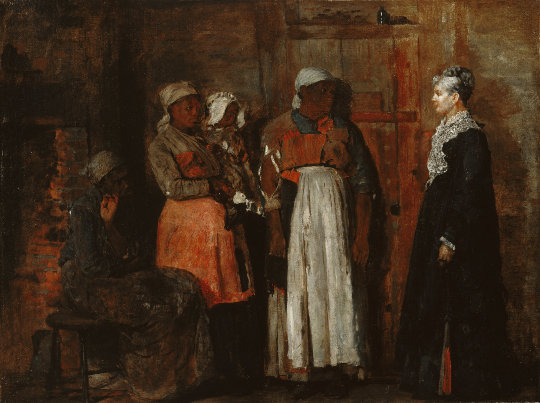 Winslow Homer. The visit of the old lady