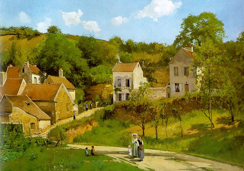 Camille Pissarro. The Hermitage in PONTOISE