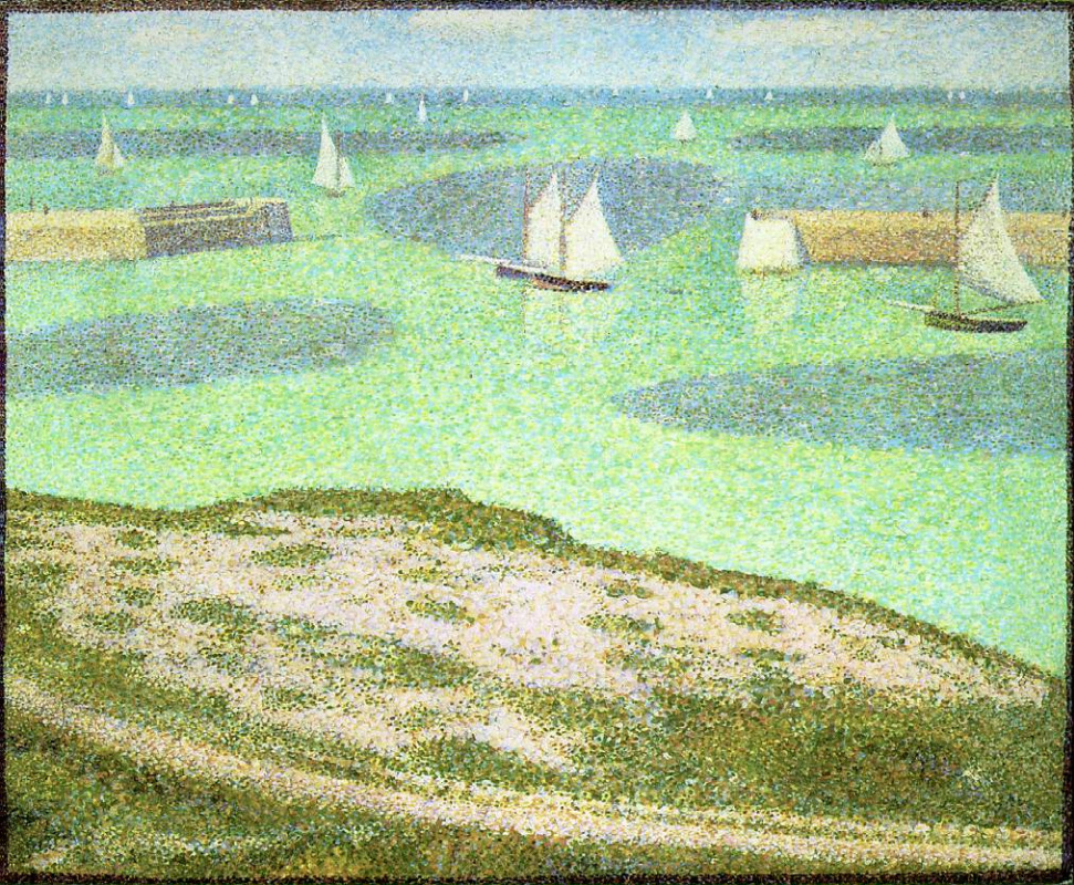 Georges Seurat. Port-EN-Bessines - entrance to the harbour