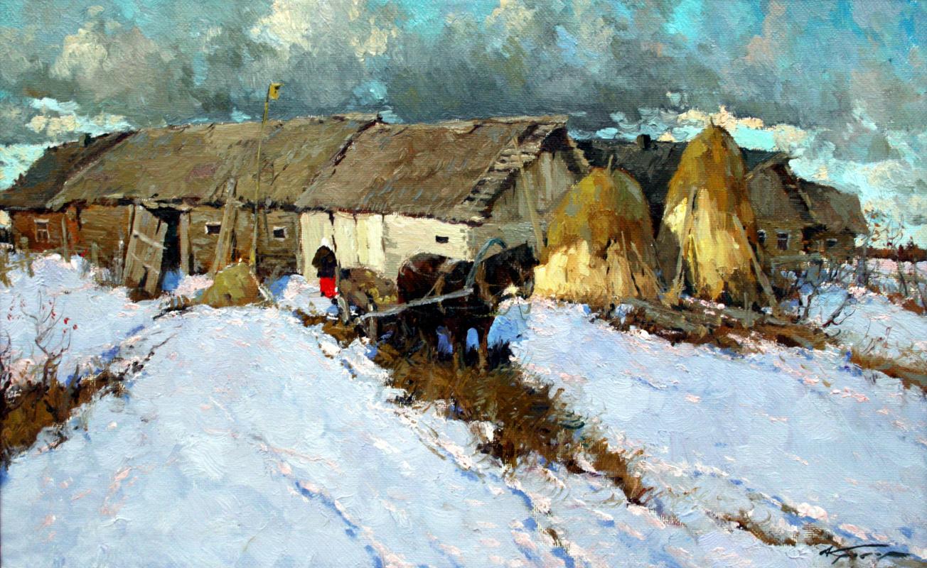 Alexander Markovich Kremer. Winter in the village