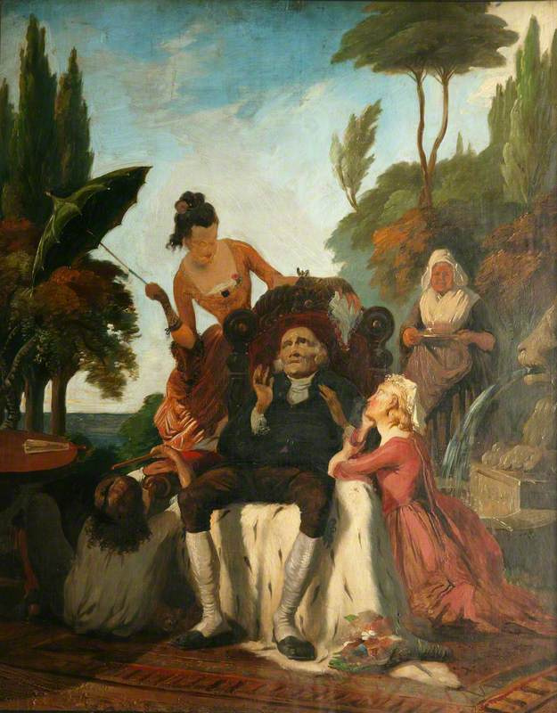 Ford Madox Brown. The vicar of Wakefield: Dr primrose and his daughters