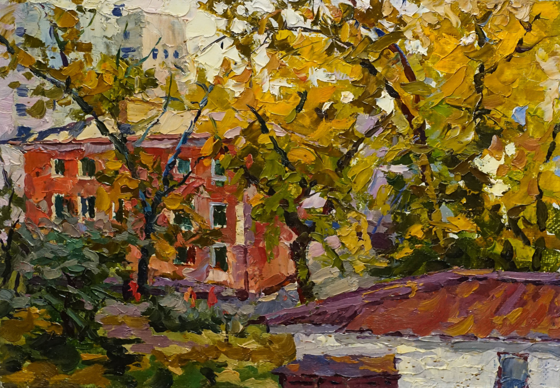Alexey Alekseevich Drilev. Autumn with a roof
