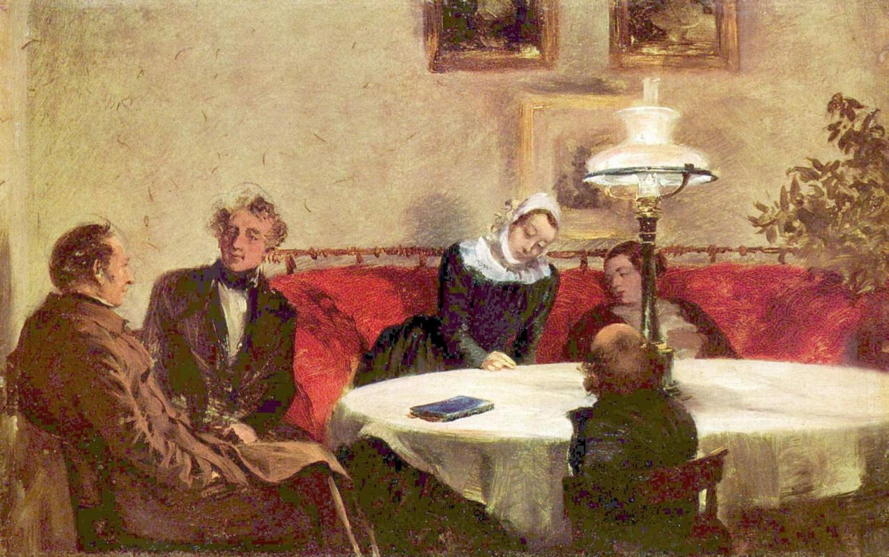 Адольф фон Менцель. Вечернее общество