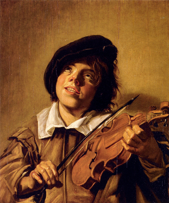 Judith Leyster. The boy plays the violin